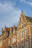 Historical facades at the old market square in Leuven Stock Photo