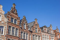 Historical facades at the old market square in Leuven Royalty Free Stock Image