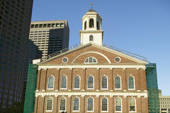 Historical Faneuil Hall from Revolutionary America in Boston, Massachusetts, New England Royalty Free Stock Photo