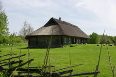 Historical farmhouse in Hiiumaa. This beautiful old country house is a working Museum in Hiiumaa Soera, Estonia Royalty Free Stock Images