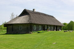 Historical farmhouse in Hiiumaa. This beautiful old country house is a working Museum in Hiiumaa Soera, Estonia Stock Images