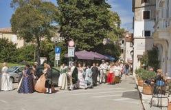 Historical Festival Giostra in Porec, Croatia. Stock Photo