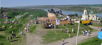Historical Festival in Khotyn Stock Photos