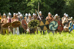 Historical festival of medieval culture Stock Photos