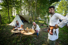 Historical festival of medieval culture Stock Images
