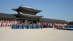 Historical festival, Seoul, South Korea stock video footage