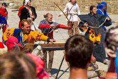 Historical Festival  in Sudak stronghold Royalty Free Stock Images