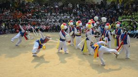 Historical festival, Suwon, South Korea stock footage