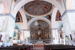 Historical Filipino Church interior Royalty Free Stock Photo