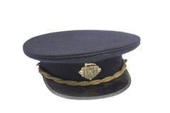 Historical fire cap. Historical Czechoslovakian fire-fighter cap, full dress uniform Royalty Free Stock Image