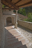 Historical flight of steps in Feltre, Veneto, Ital Stock Image