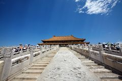 The historical Forbidden City in Beijing Stock Photo