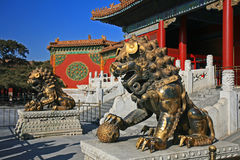 The historical Forbidden City in Beijing Stock Photos