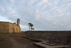 Historical Fort in St.Augustine Florida. Horizontal Image Royalty Free Stock Images