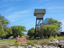 Historical Fort Wool Guard Tower Stock Image