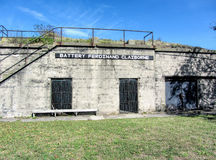 Historical Fort Wool Virginia Battery Ferdinand Claiborne Royalty Free Stock Photo