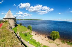 Historical fortress Oreshek is an ancient Russian fortress royalty free stock photos