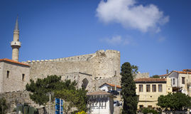 Historical forts and stone houses Royalty Free Stock Photos