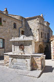 Historical fountain. Guardia Perticara. Basilicata. Italy. Stock Photos