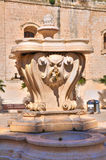 Historical fountain. Monopoli. Puglia. Italy. Stock Image