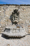 Historical fountain. Narni. Umbria. Italy. Royalty Free Stock Photo