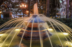 Historical Fountain in the park Cartagena de Indias, Colombia. S Royalty Free Stock Photography