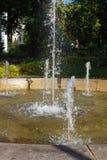historical fountain at rokoko city park stock photo