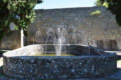 Historical fountain in San Marino Stock Image