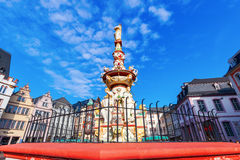 Historical fountain in Trier, Germany Royalty Free Stock Photography