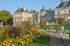 Historical french building. In a public park Royalty Free Stock Photos