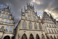 Historical gables in Munster, Germany Royalty Free Stock Photography