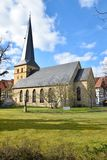 Historical german church in spring time Stock Image
