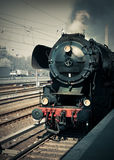 Historical German steam locomotive, toned image Royalty Free Stock Photography