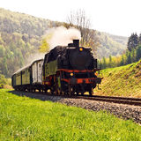 Historical German steam train Stock Photo