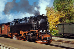 Historical German steam train Stock Photo