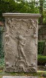 Historical German tombstone. Old german tombstone on a historical graveyard Royalty Free Stock Image