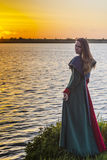 Historical girl - medieval dress. Here is a portrait of girl in medieval dress Royalty Free Stock Images