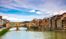 Historical Gold (Ponte Vecchio) of Bridge Royalty Free Stock Image