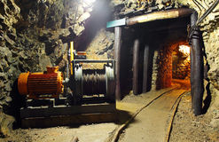 Historical gold, silver, copper mine Stock Photography