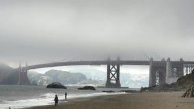 The historical Golden Gate Bridge stock footage