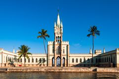 Historical Gothic Style Palace in Fiscal Island. Fiscal Island With Historical Gothic Style Palace Built by Emperor Pedro II, in Rio de Janeiro, Brazil Stock Images