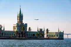 Historical Gothic Style Palace in Fiscal Island. Fiscal Island With Historical Gothic Style Palace Built by Emperor Pedro II, in Rio de Janeiro, Brazil Royalty Free Stock Photo