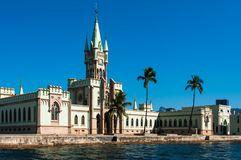 Historical Gothic Style Palace in Fiscal Island. Fiscal Island With Historical Gothic Style Palace Built by Emperor Pedro II, in Rio de Janeiro, Brazil Stock Photography