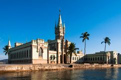 Historical Gothic Style Palace in Fiscal Island. Fiscal Island With Historical Gothic Style Palace Built by Emperor Pedro II, in Rio de Janeiro, Brazil Stock Photos