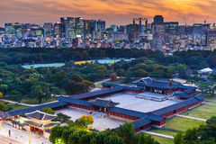 Historical grand palace in Seoul city Royalty Free Stock Photography