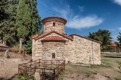 Historical Greek Orthodox monastery of Zvernex near Vlore in Albania royalty free stock image