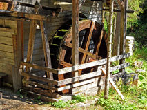 Historical Grinder on Mountain River - Austria Stock Photo