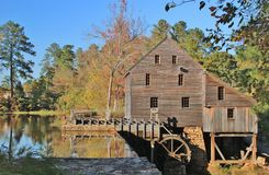 Historical Grist Mill royalty free stock photos