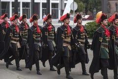 Historical guardsmen Stock Image