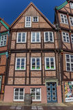 Historical half timbered house in the city center of Stade Stock Photo